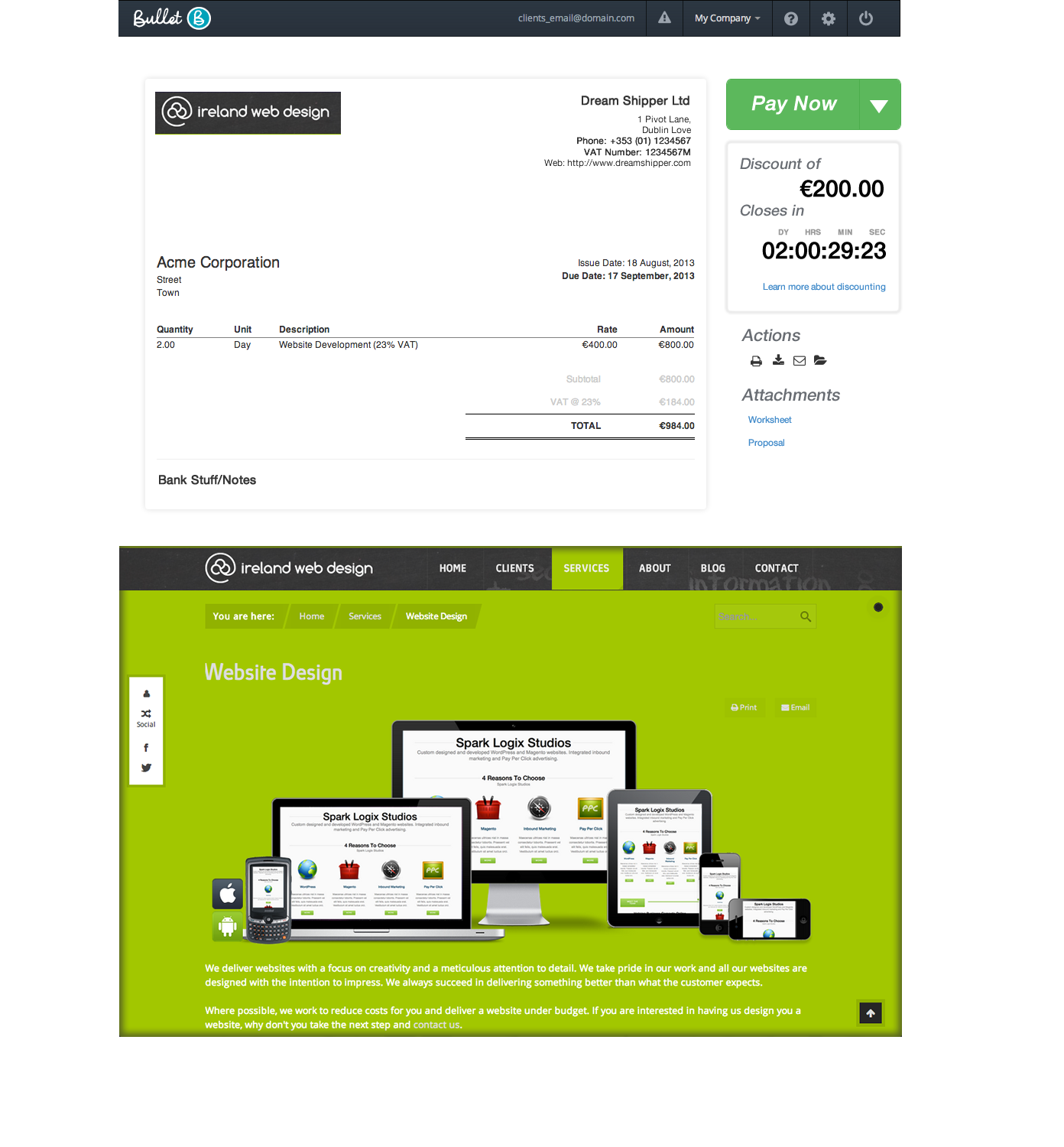 invoice templates free online invoicing from bullets free accounts