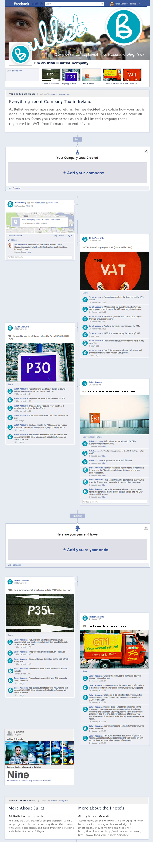 Infographic - Irish Company Tax Explained as a Facebook Timeline   online accounting solution