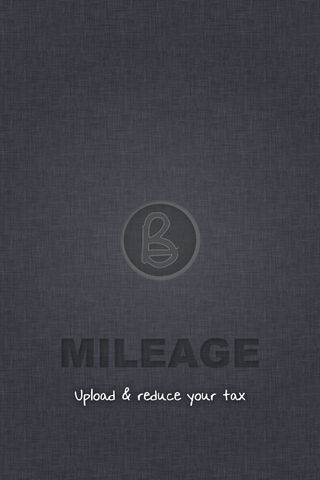 Fig 2. Mileage Splash - Final  - iPhone App for Mileage & Expenses