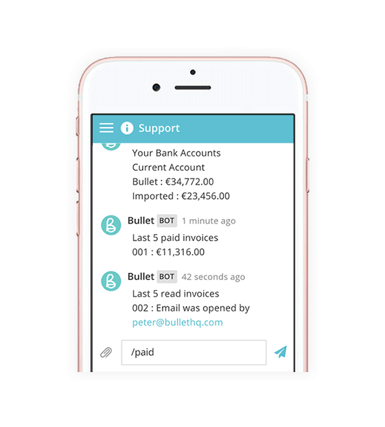 Mobile Receipt scanning and smart Bot for iPhone, Windows and Android