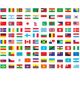 Image showing country flags showing you that you can add any country or states mileage rules