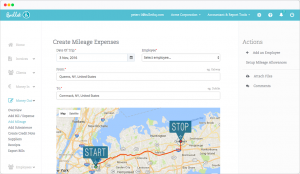 Mileage overview chart with Google maps intergration