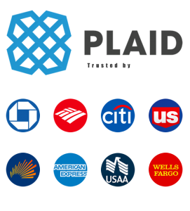 View of top grade banks like Chase, Citi that use the same security platform 'Plaid', that Bullet uses.