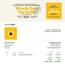 Image showing how you can use online invoices to upsell