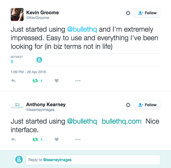 View of mileage customers reviews on Twitter